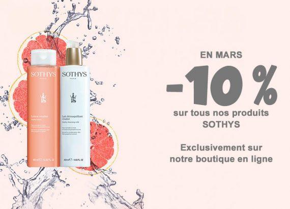 Offre -10% sur nos produits SOTHYS en Mars