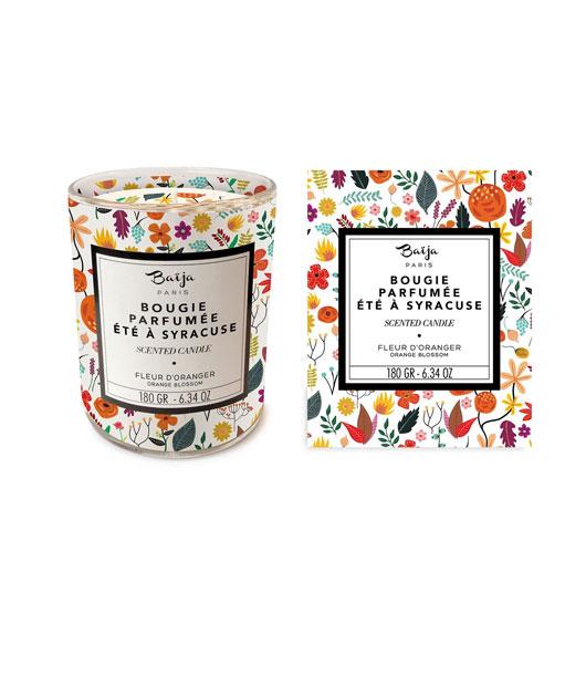 Bougie-Parfumée—Eté-à-Syracuse—Fleur-d'Oranger—Baïja