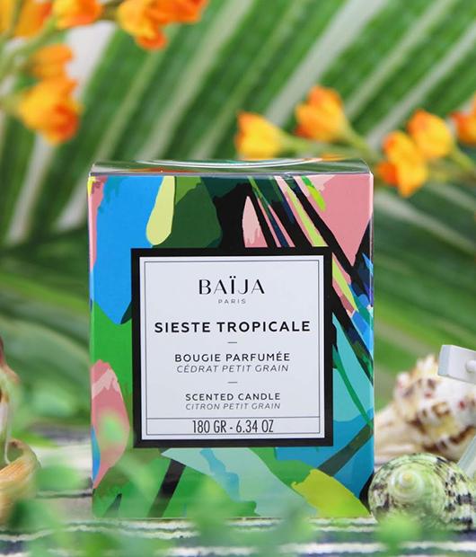 Bougie-parfumé-Sieste-Tropicale—Citron-Petit-Grain—Baïja